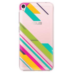 Plastové pouzdro iSaprio Barevné Pruhy 03 na mobil Asus ZenFone Live ZB501KL