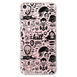 Plastové pouzdro iSaprio Komiks 01 black na mobil Asus ZenFone Live ZB501KL