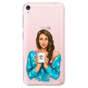 Plastové pouzdro iSaprio Coffee Now Brunetka na mobil Asus ZenFone Live ZB501KL