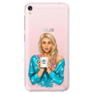 Plastové pouzdro iSaprio Coffee Now Blondýna na mobil Asus ZenFone Live ZB501KL