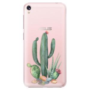 Plastové pouzdro iSaprio Kaktusy 02 na mobil Asus ZenFone Live ZB501KL