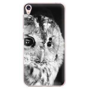 Plastové pouzdro iSaprio BW Sova na mobil Asus ZenFone Live ZB501KL