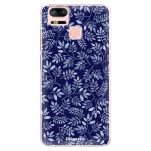 Plastové pouzdro iSaprio Blue Leaves 05 na mobil Asus Zenfone 3 Zoom ZE553KL