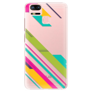 Plastové pouzdro iSaprio Barevné Pruhy 03 na mobil Asus Zenfone 3 Zoom ZE553KL