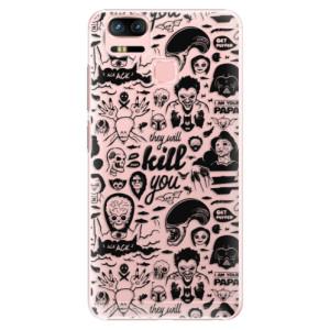 Plastové pouzdro iSaprio Komiks 01 black na mobil Asus Zenfone 3 Zoom ZE553KL