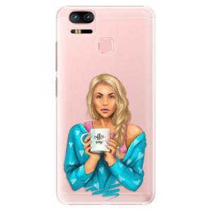 Plastové pouzdro iSaprio Coffee Now Blondýna na mobil Asus Zenfone 3 Zoom ZE553KL