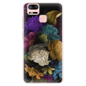 Plastové pouzdro iSaprio Temné Květy na mobil Asus Zenfone 3 Zoom ZE553KL