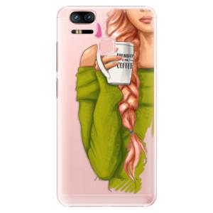 Plastové pouzdro iSaprio Zrzka s kafčem na mobil Asus Zenfone 3 Zoom ZE553KL