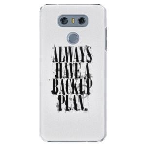 Plastové pouzdro iSaprio Backup Plan na mobil LG G6 (H870)