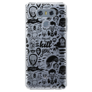 Plastové pouzdro iSaprio Komiks 01 black na mobil LG G6 (H870)