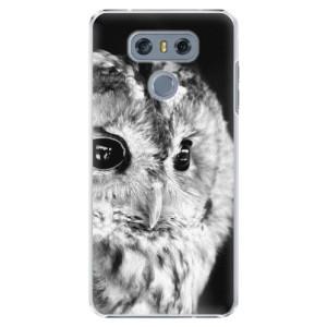 Plastové pouzdro iSaprio BW Sova na mobil LG G6 (H870)