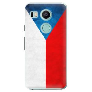 Plastové pouzdro iSaprio Česká Vlajka na mobil LG Nexus 5X