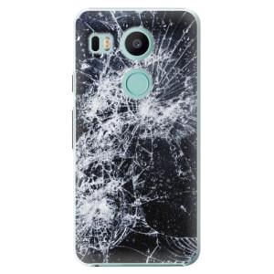 Plastové pouzdro iSaprio Praskliny na mobil LG Nexus 5X