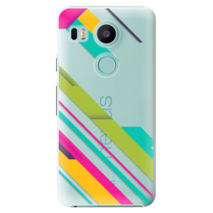Plastové pouzdro iSaprio Barevné Pruhy 03 na mobil LG Nexus 5X