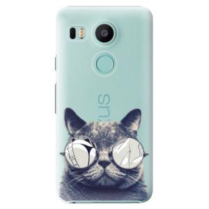 Plastové pouzdro iSaprio Šílená Číča 01 na mobil LG Nexus 5X