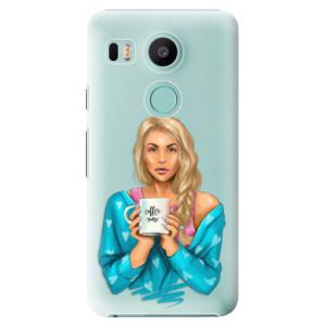 Plastové pouzdro iSaprio Coffee Now Blondýna na mobil LG Nexus 5X