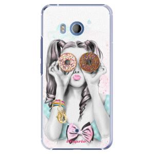 Plastové pouzdro iSaprio Donutky Očiska 10 na mobil HTC U11