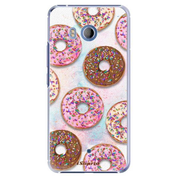 Plastové pouzdro iSaprio Donutky Všude 11 na mobil HTC U11 (Plastový kryt, obal, pouzdro iSaprio Donutky Všude 11 na mobilní telefon HTC U11)