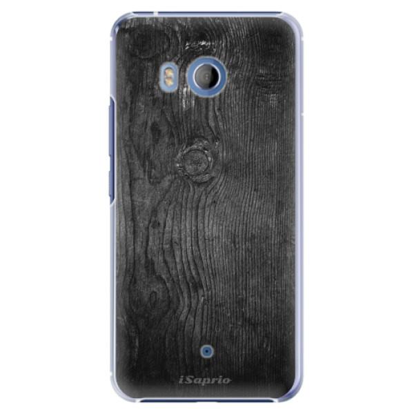 Plastové pouzdro iSaprio black Wood 13 na mobil HTC U11 (Plastový obal, kryt, pouzdro iSaprio black Wood 13 na mobilní telefon HTC U11)