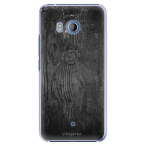 Plastové pouzdro iSaprio black Wood 13 na mobil HTC U11