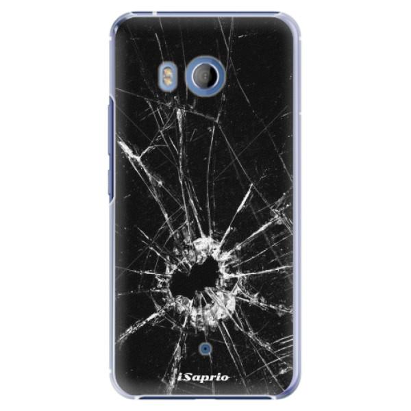 Plastové pouzdro iSaprio Broken Glass 10 na mobil HTC U11 (Plastový obal, kryt, pouzdro iSaprio Broken Glass 10 na mobilní telefon HTC U11)