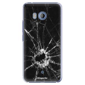 Plastové pouzdro iSaprio Broken Glass 10 na mobil HTC U11