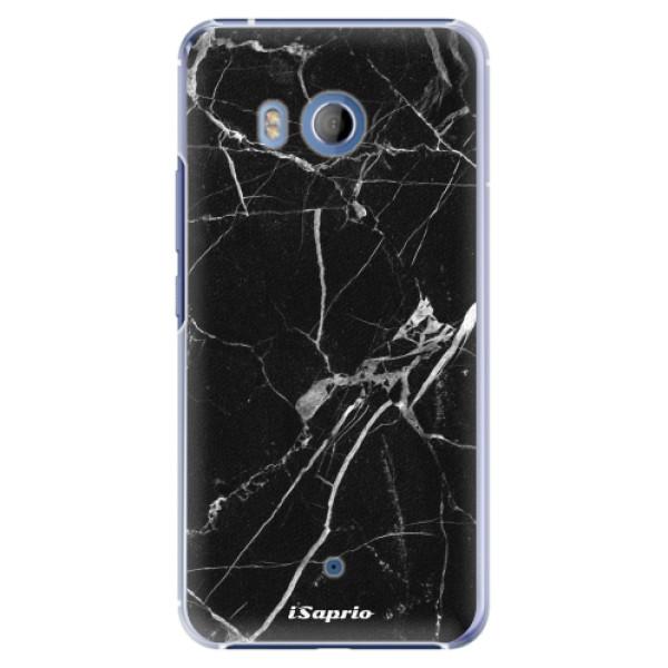 Plastové pouzdro iSaprio black Marble 18 na mobil HTC U11 (Plastový obal, kryt, pouzdro iSaprio black Marble 18 na mobilní telefon HTC U11)
