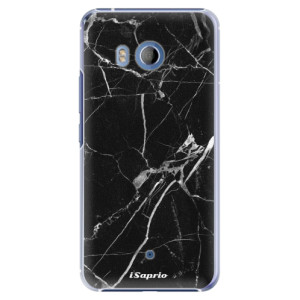 Plastové pouzdro iSaprio black Marble 18 na mobil HTC U11