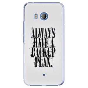 Plastové pouzdro iSaprio Backup Plan na mobil HTC U11
