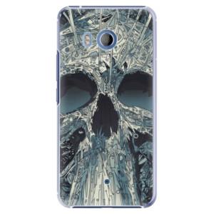 Plastové pouzdro iSaprio Abstract Skull na mobil HTC U11