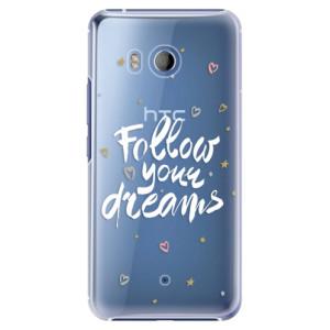 Plastové pouzdro iSaprio Follow Your Dreams bílý na mobil HTC U11
