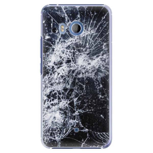 Plastové pouzdro iSaprio Praskliny na mobil HTC U11 (Plastový kryt, obal, pouzdro iSaprio Praskliny na mobilní telefon HTC U11)