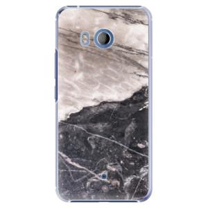 Plastové pouzdro iSaprio BW Mramor na mobil HTC U11