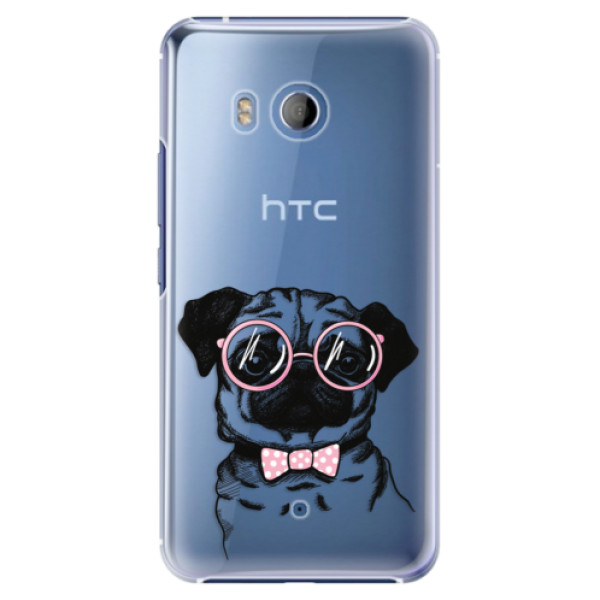 Plastové pouzdro iSaprio Mops na mobil HTC U11 (Plastový kryt, obal, pouzdro iSaprio Mops na mobilní telefon HTC U11)