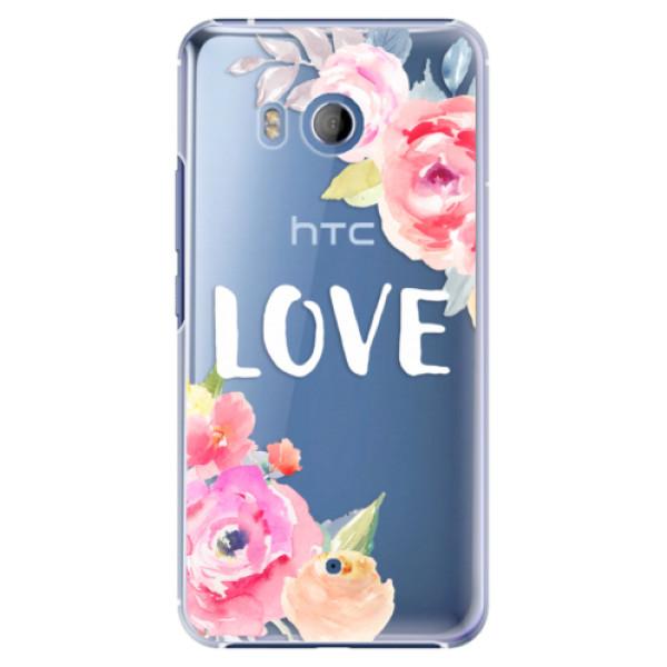 Plastové pouzdro iSaprio Love na mobil HTC U11 (Plastový kryt, obal, pouzdro iSaprio Love na mobilní telefon HTC U11)