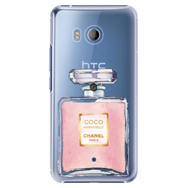 Plastové pouzdro iSaprio Chanel Rose na mobil HTC U11 (Plastový kryt, obal, pouzdro iSaprio Chanel Rose na mobilní telefon HTC U11)