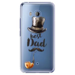 Plastové pouzdro iSaprio Best Dad na mobil HTC U11