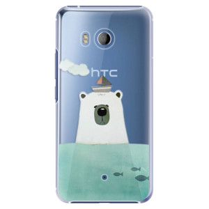 Plastové pouzdro iSaprio Bear With Boat na mobil HTC U11