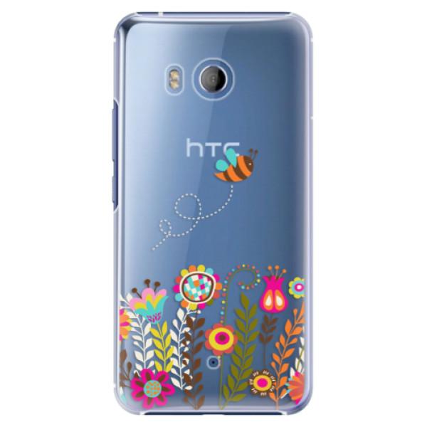Plastové pouzdro iSaprio Bee 01 na mobil HTC U11 (Plastový obal, kryt, pouzdro iSaprio Bee 01 na mobilní telefon HTC U11)