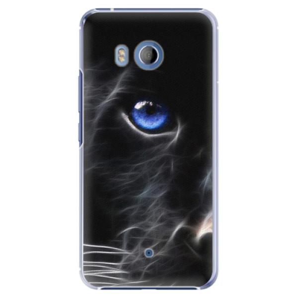 Plastové pouzdro iSaprio black Puma na mobil HTC U11 (Plastový obal, kryt, pouzdro iSaprio black Puma na mobilní telefon HTC U11)