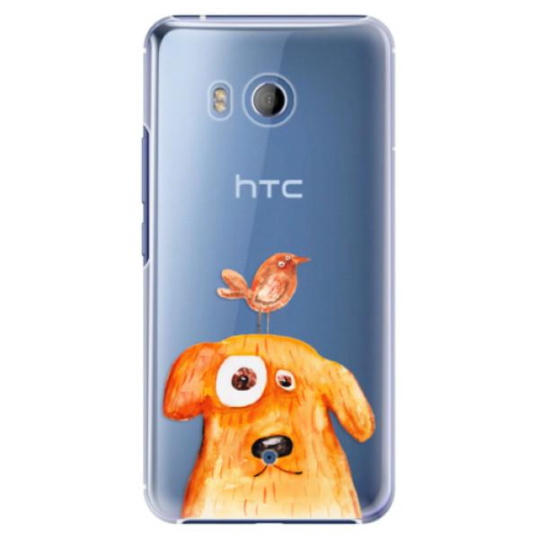 Plastové pouzdro iSaprio Pejsek a Ptáček na mobil HTC U11 (Plastový kryt, obal, pouzdro iSaprio Pejsek a Ptáček na mobilní telefon HTC U11)