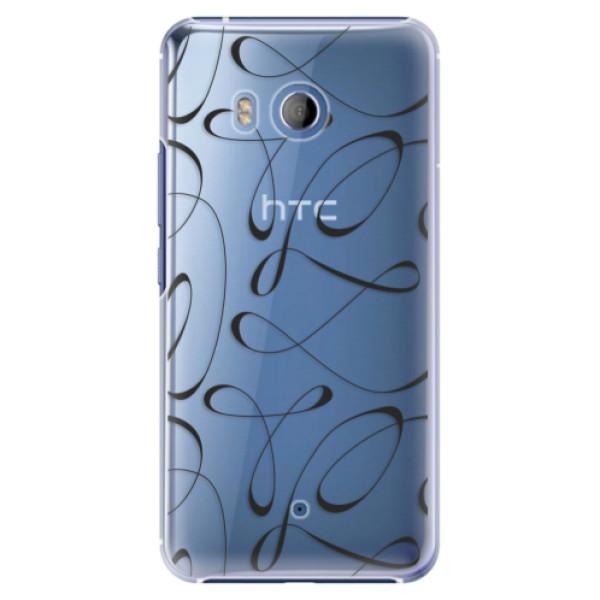 Plastové pouzdro iSaprio Fancy černé na mobil HTC U11 (Plastový kryt, obal, pouzdro iSaprio Fancy černé na mobilní telefon HTC U11)