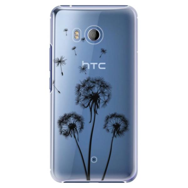 Plastové pouzdro iSaprio Tři Černé Pampelišky na mobil HTC U11 (Plastový kryt, obal, pouzdro iSaprio Tři Černé Pampelišky na mobilní telefon HTC U11)