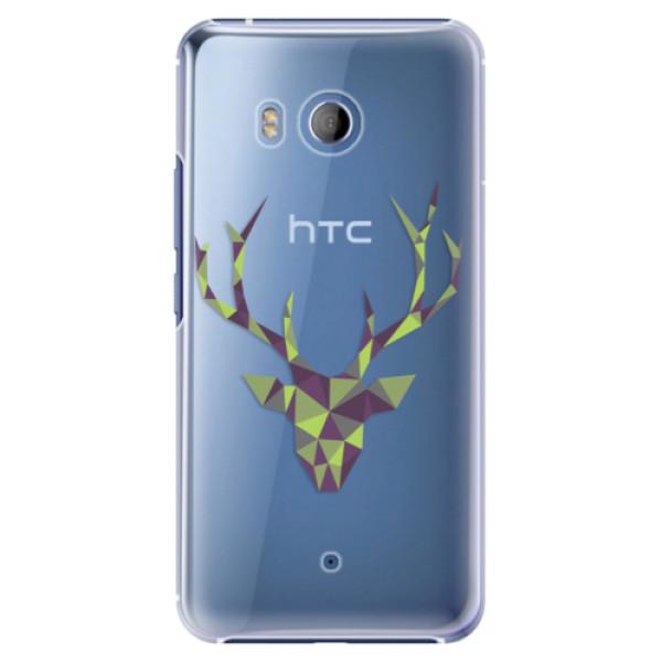Plastové pouzdro iSaprio Zelený Jelínek na mobil HTC U11 (Plastový kryt, obal, pouzdro iSaprio Zelený Jelínek na mobilní telefon HTC U11)