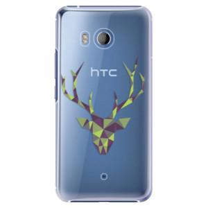 Plastové pouzdro iSaprio Zelený Jelínek na mobil HTC U11