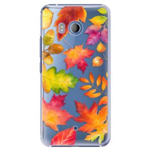 Plastové pouzdro iSaprio Autumn Leaves 01 na mobil HTC U11