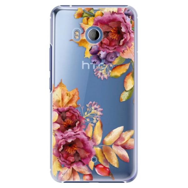 Plastové pouzdro iSaprio Podzimní Květiny na mobil HTC U11 (Plastový kryt, obal, pouzdro iSaprio Podzimní Květiny na mobilní telefon HTC U11)