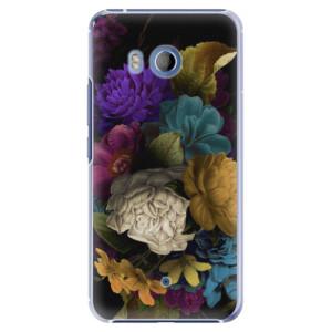 Plastové pouzdro iSaprio Temné Květy na mobil HTC U11