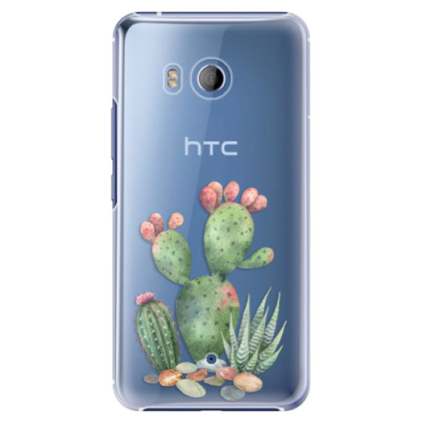 Plastové pouzdro iSaprio Kaktusy 01 na mobil HTC U11 (Plastový kryt, obal, pouzdro iSaprio Kaktusy 01 na mobilní telefon HTC U11)