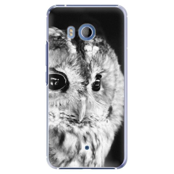 Plastové pouzdro iSaprio BW Sova na mobil HTC U11 (Plastový kryt, obal, pouzdro iSaprio BW Sova na mobilní telefon HTC U11)